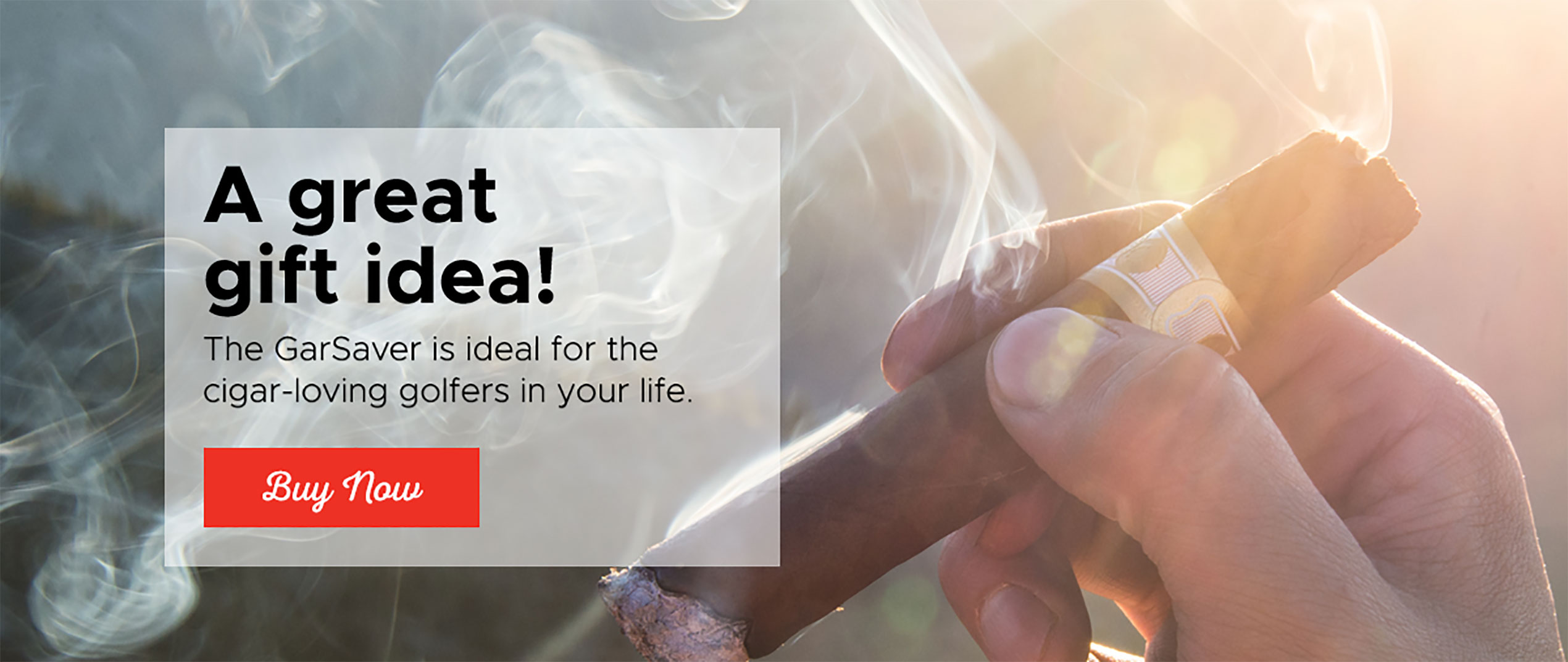 More Smoke Per Stroke A freshly lit cigar and a round of golf. It's a  classic pair with a classic problem – just how do you enjoy both at the same time?